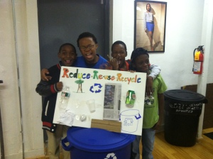PhillyEarth students got fed up with the amount of trash being produced at The Village, so they took it upon themselves to start a recycling program
